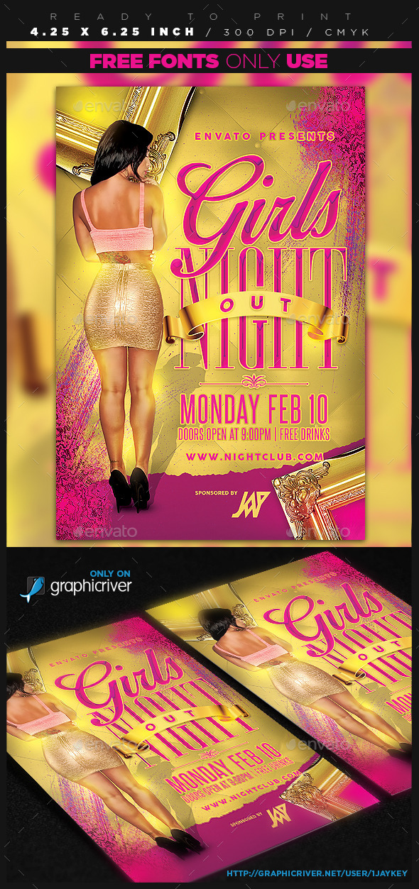 GraphicRiver Girls Night Out Party Flyer 10353536
