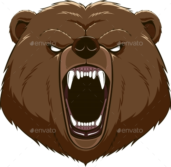 GraphicRiver Angry Bear Head Mascot 10353624