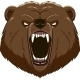 Angry Bear Head Mascot - GraphicRiver Item for Sale