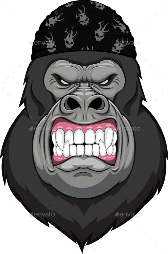 GraphicRiver Angry Gorilla Head 10353633