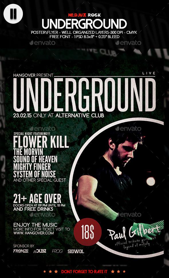 GraphicRiver Underground Cracked Flyer 10353641