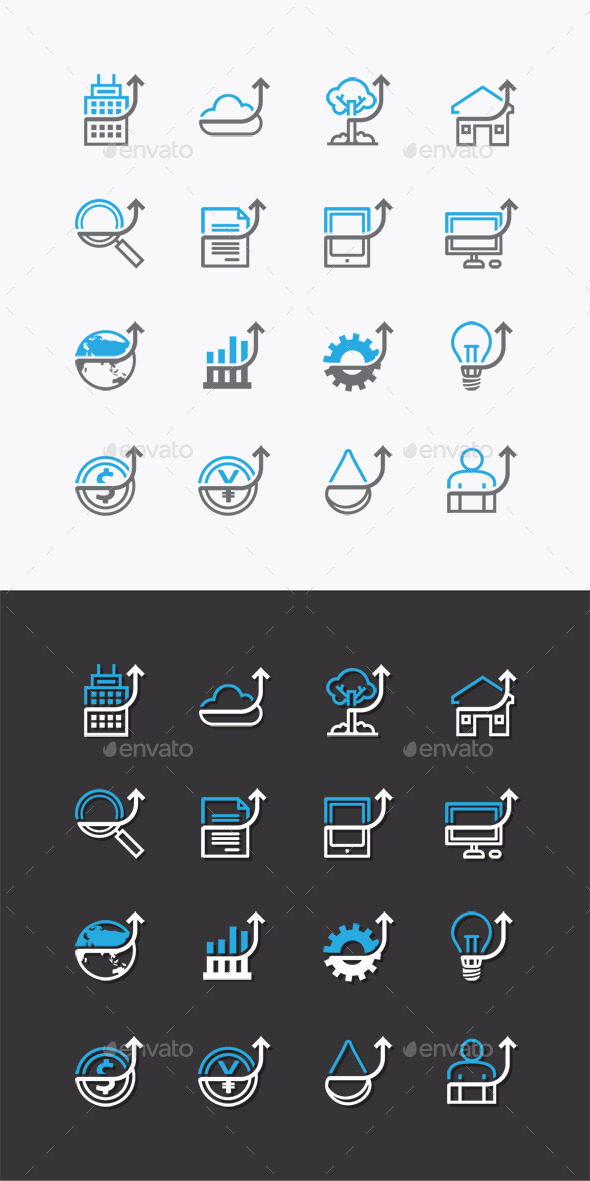GraphicRiver Vector Flat Icons Set Business Finance 10353706