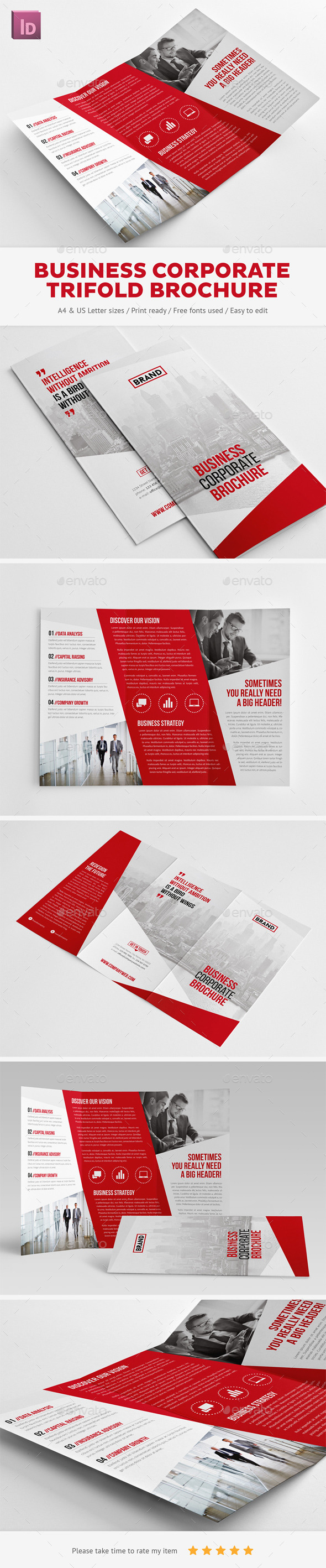 GraphicRiver Business Corporate Trifold Brochure 10353710