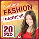 Boutique Fashion Banners - GraphicRiver Item for Sale