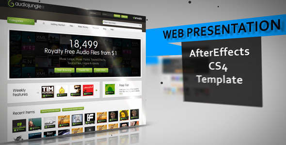 After Effects Project - VideoHive Web Presentation CS4 130510