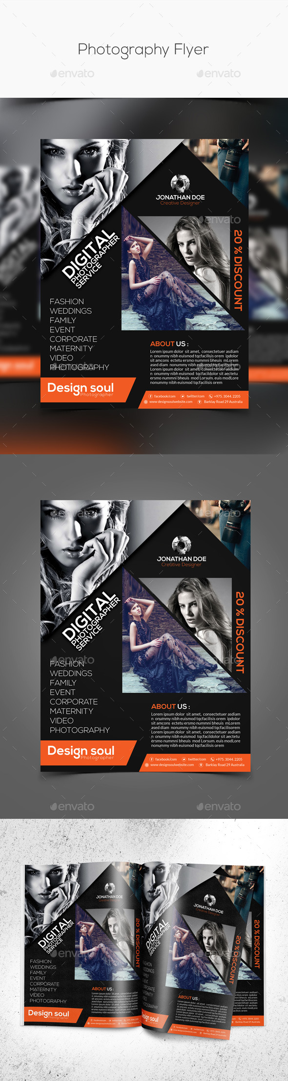 GraphicRiver Photography Flyers 10354003