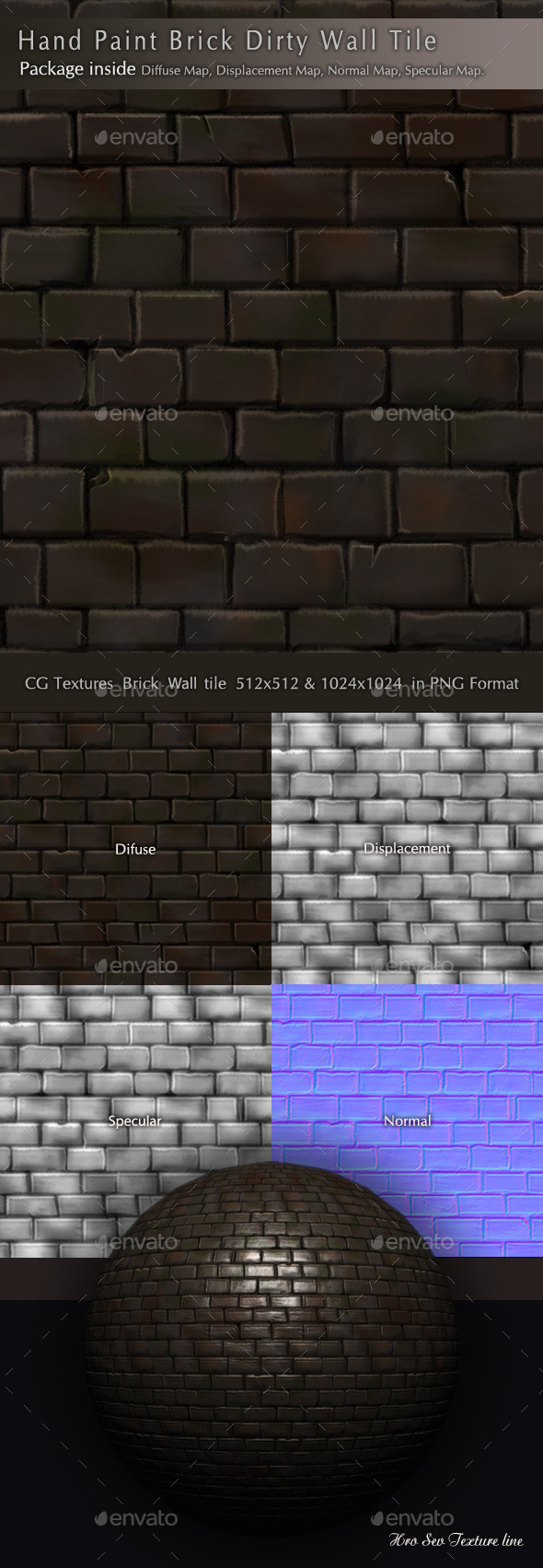 3DOcean Brick Dirty Wall Texture Pack B3 10354004