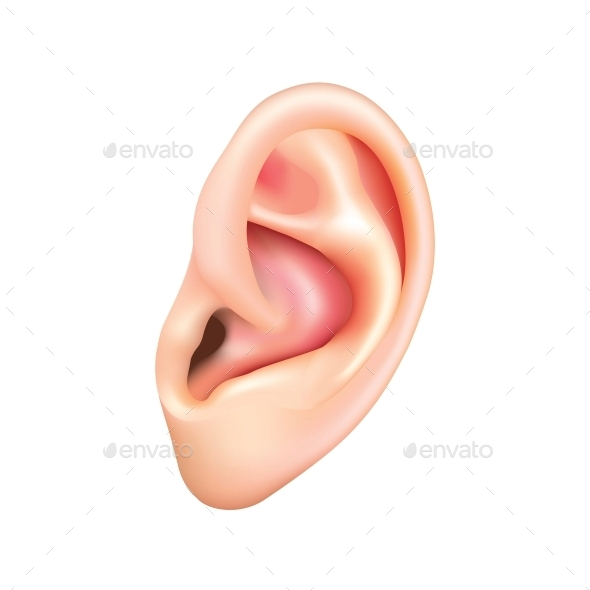 GraphicRiver Human Ear Isolated 10354017