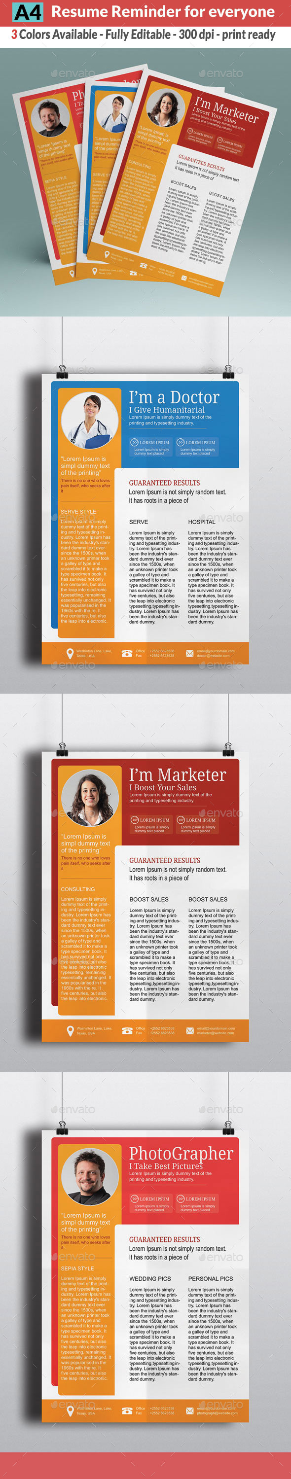 GraphicRiver Job Resume 10318115