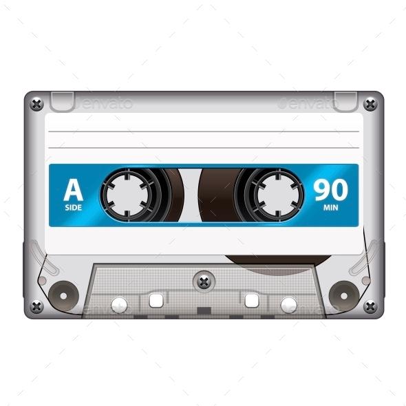 GraphicRiver Retro Cassette Tape 10354284