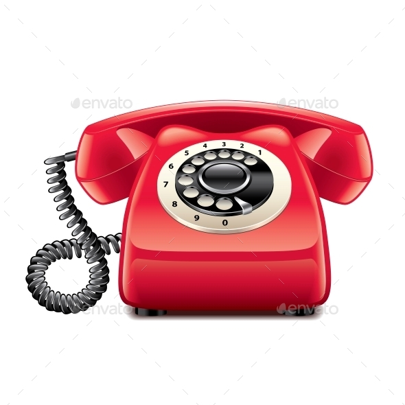 GraphicRiver Retro Red Phone 10354287