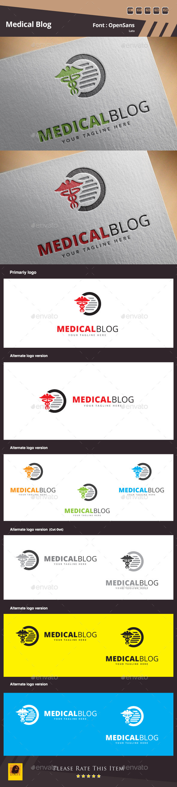 GraphicRiver Medical Blog Logo Template 10354323