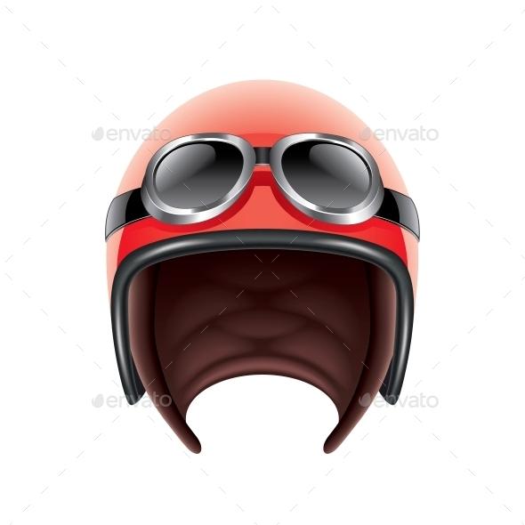 GraphicRiver Retro Aviator Helmet 10354326