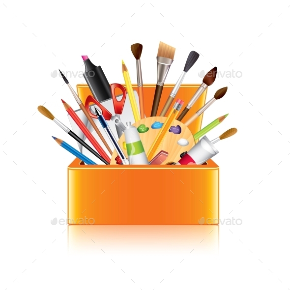 GraphicRiver Art Supplies Box 10354357