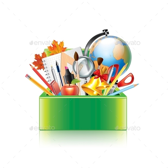 GraphicRiver School Supplies Box 10354363