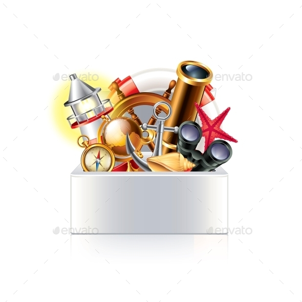 GraphicRiver Nautical Objects Box 10354365