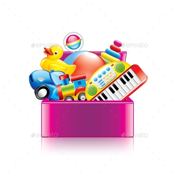 GraphicRiver Children Toys Box 10354367
