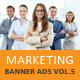Business Marketing Web Banner Ads Vol.5 - GraphicRiver Item for Sale
