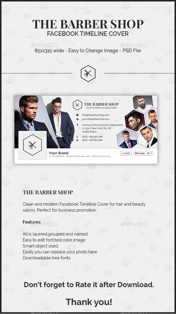 The Barber Shop Facebook Timeline Cover