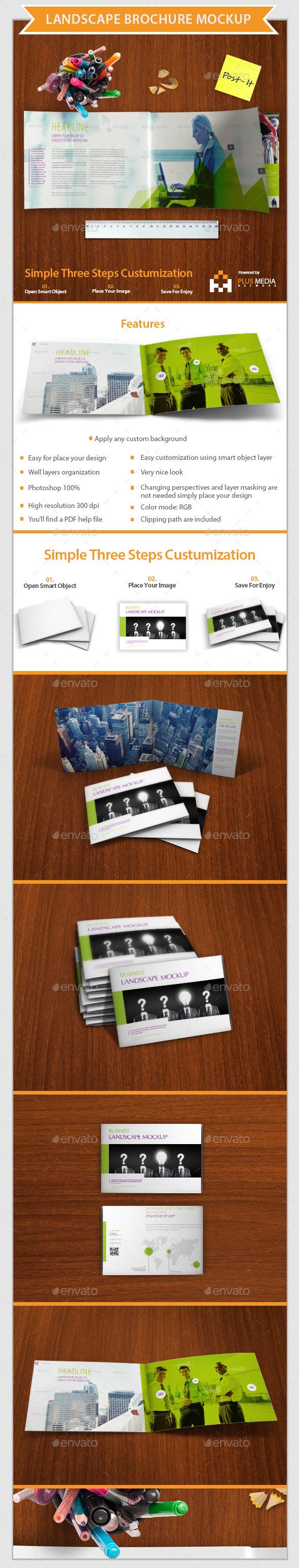 GraphicRiver Landscape Brochure Mockup 10354865
