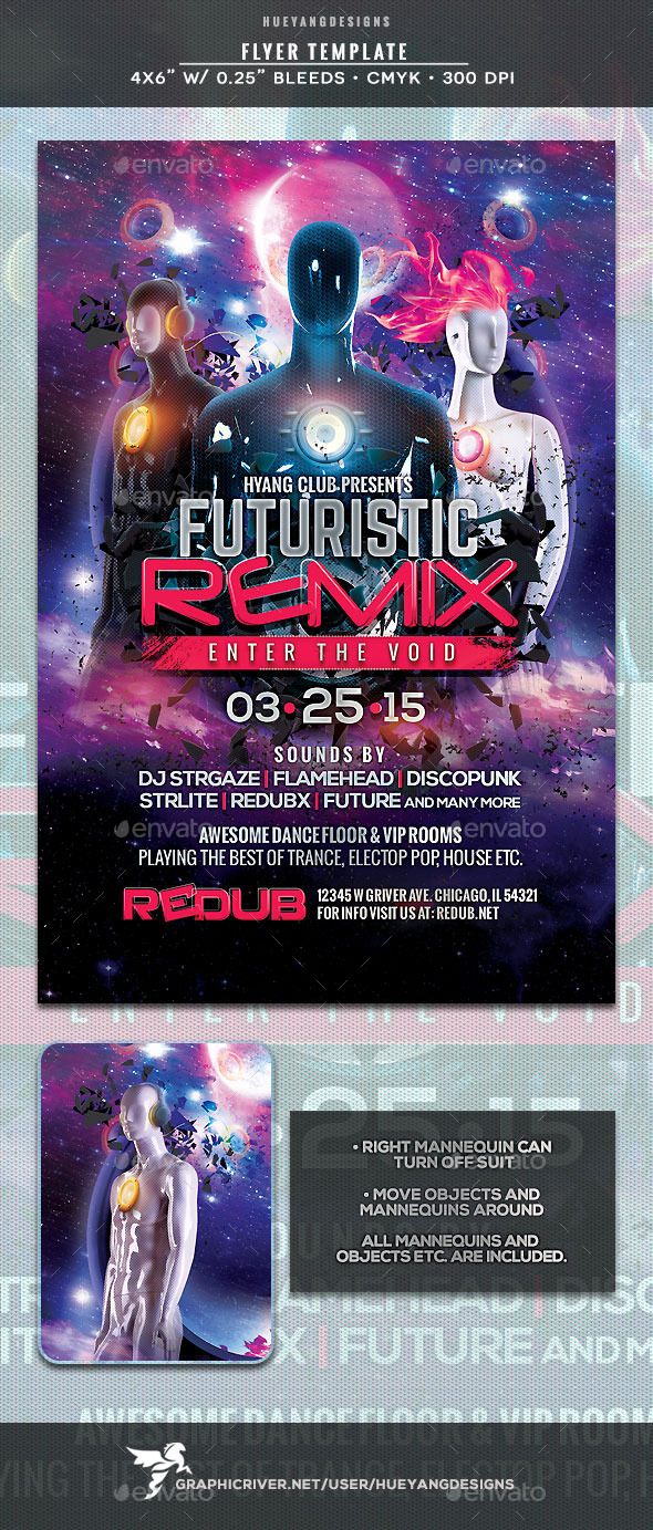 GraphicRiver Futuristic Remix Flyer 10320718