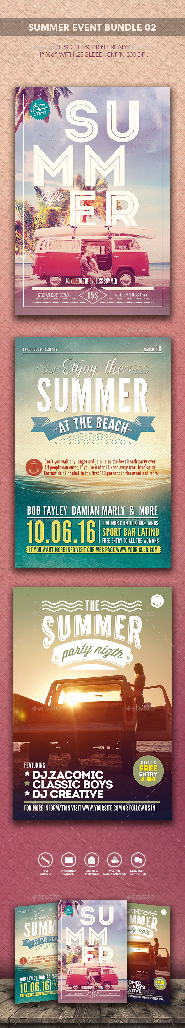 GraphicRiver Summer Event Bundle 02 10354987