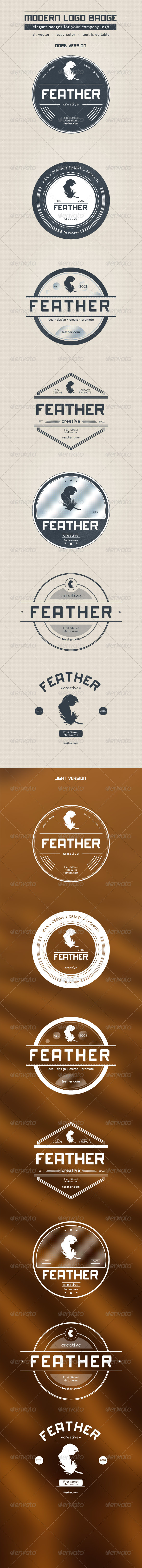 Modern Logo Badge - Badges & Stickers Web Elements