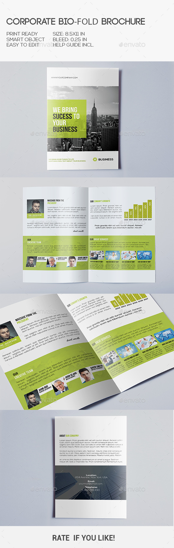 GraphicRiver Corporate Bi-Fold Brochure 10355226