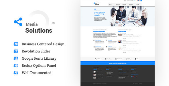 ThemeForest Media Solutions Business Wordpress Theme 10355348