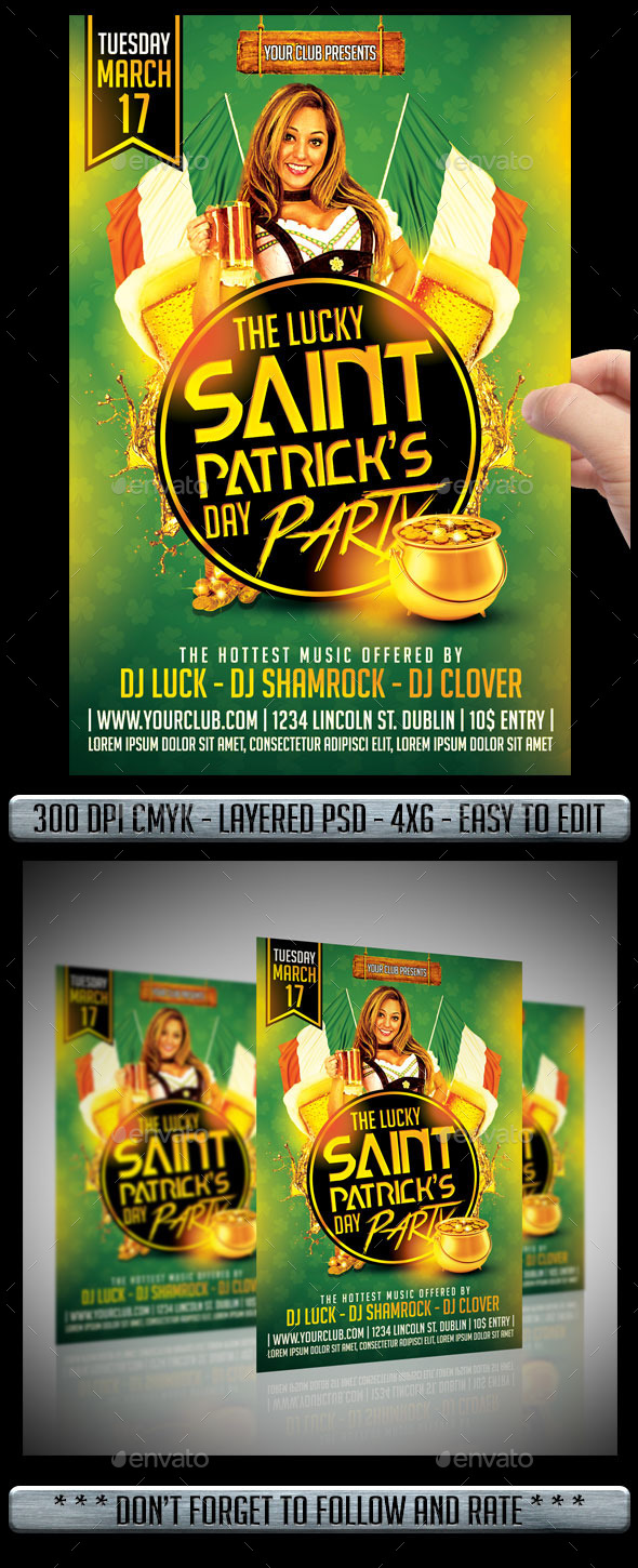 GraphicRiver Saint Patricks Day Flyer 10355482