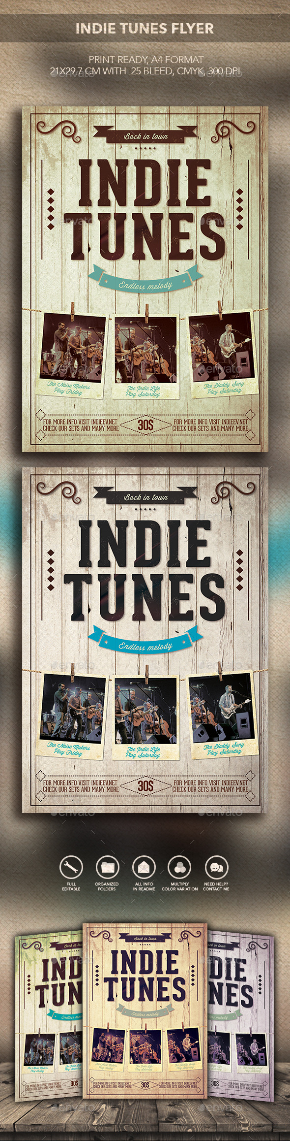 GraphicRiver Indie tunes Flyer 10355506