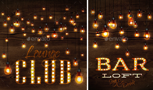 GraphicRiver Loft Glowing Lights 10355527