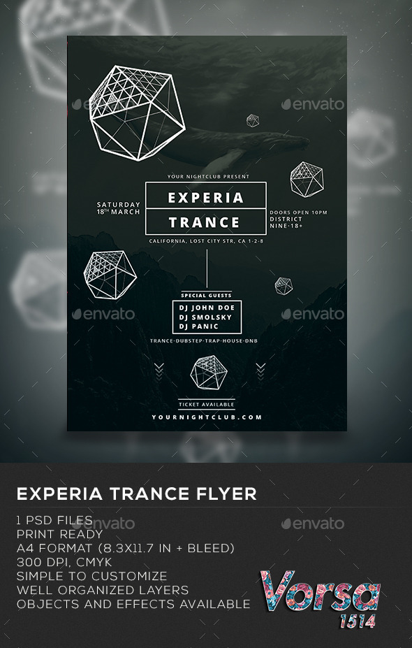 GraphicRiver Experia Trance Flyer 10355562