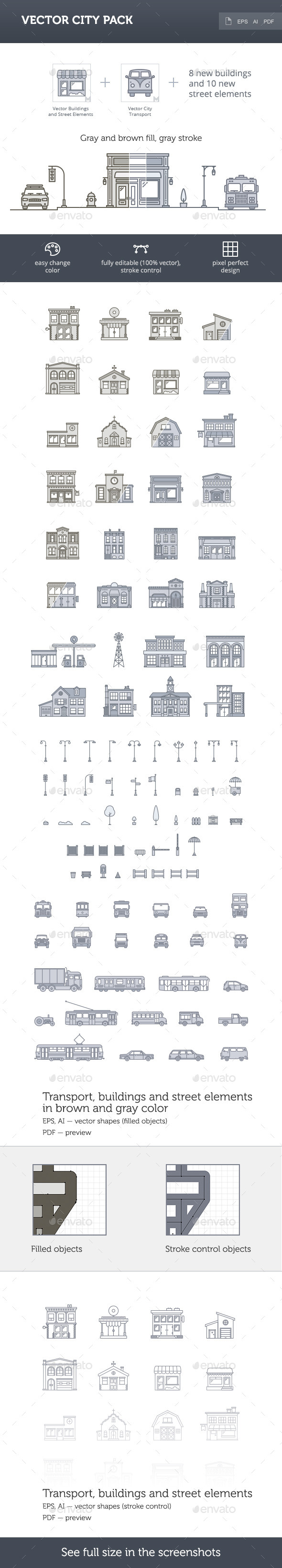 GraphicRiver Vector City Pack 10355583