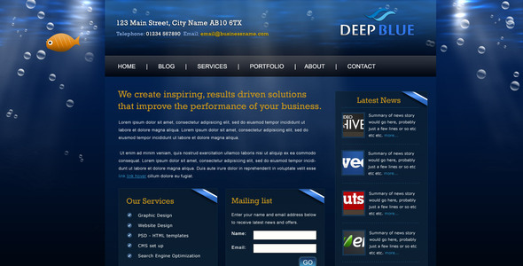 Deep Blue - Portfolio Creative