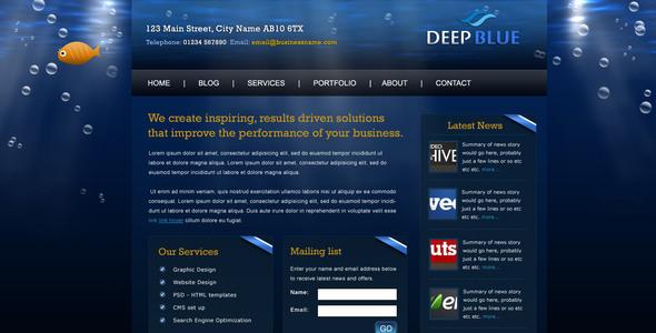 ThemeForest Deep Blue 43260