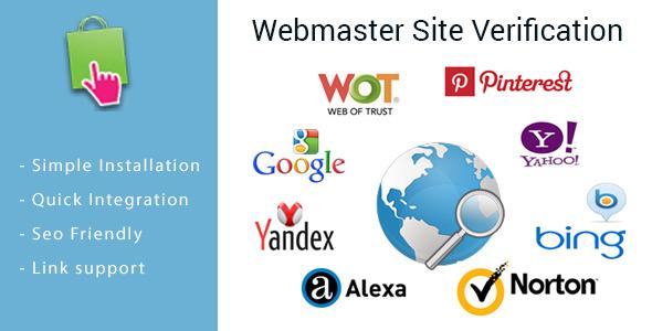 CodeCanyon Webmaster Site Verification Module for PrestaShop 10355919