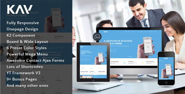 ThemeForest Kay Responsive Business Joomla Template 10355968