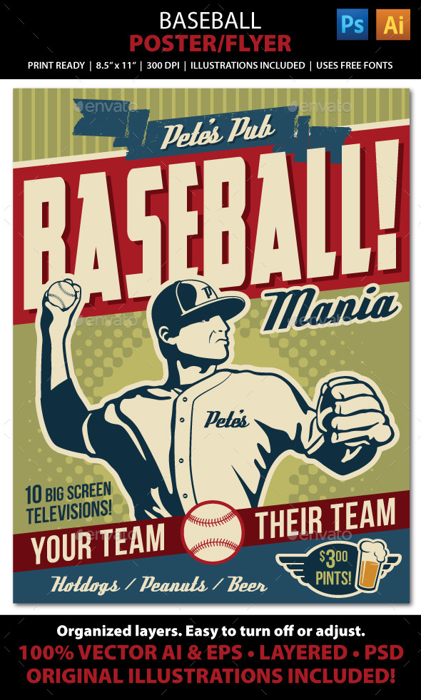 GraphicRiver Baseball Poster Flyer or Ad 10356100