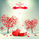 Holiday Background with Valentine Trees   - GraphicRiver Item for Sale
