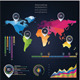 Abstract World Map Infographics With Elements - GraphicRiver Item for Sale