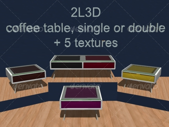 3DOcean Coffee table 2L3D 3D Models -  Furnishings 130534