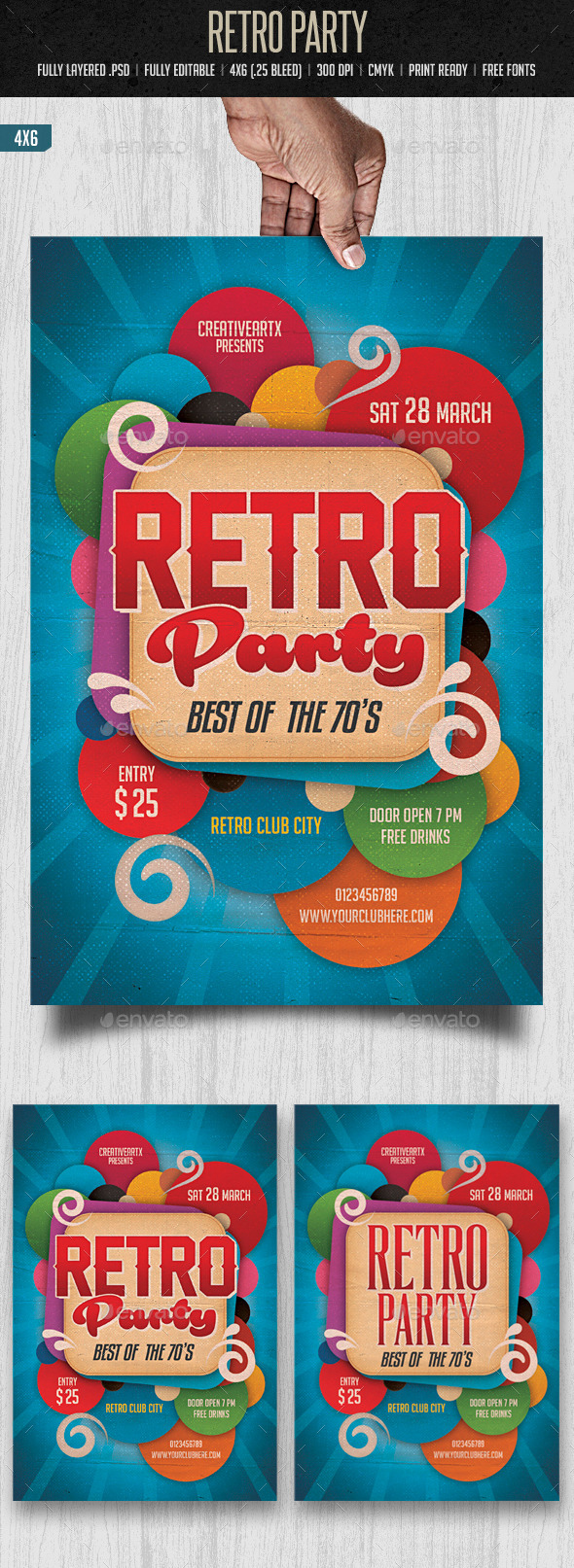 GraphicRiver Retro Party 10356258
