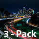 Downtown Los Angeles At Night (3-Pack) - VideoHive Item for Sale