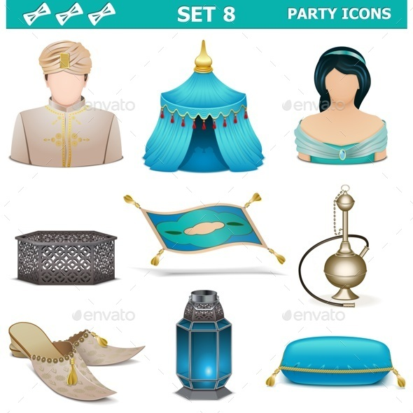 GraphicRiver Party Icons Set 8 10356480