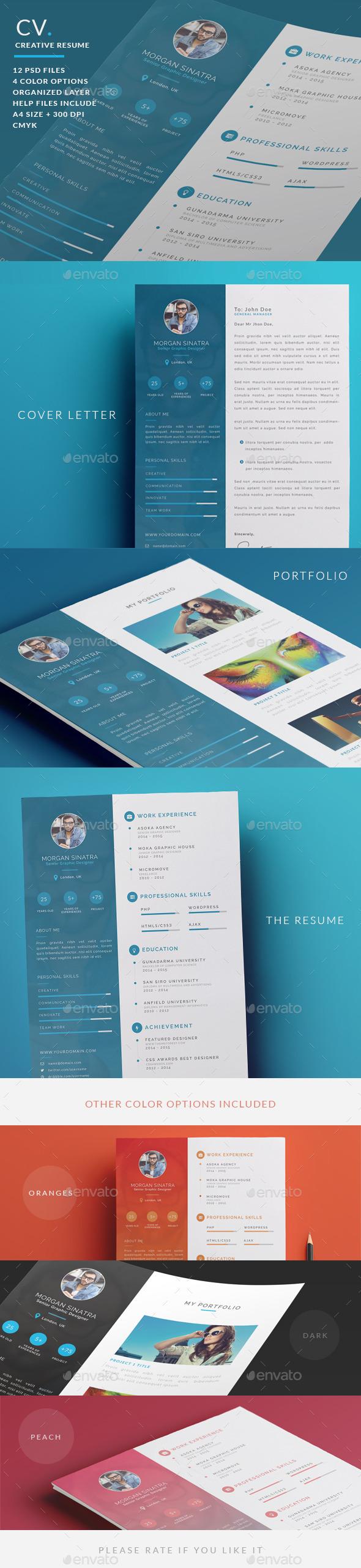 GraphicRiver Creative Resume CV 10356860