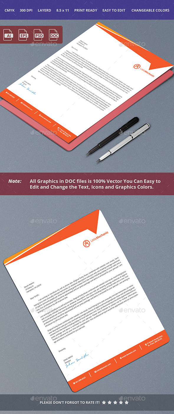 GraphicRiver Clean Letterhead Design 10356957
