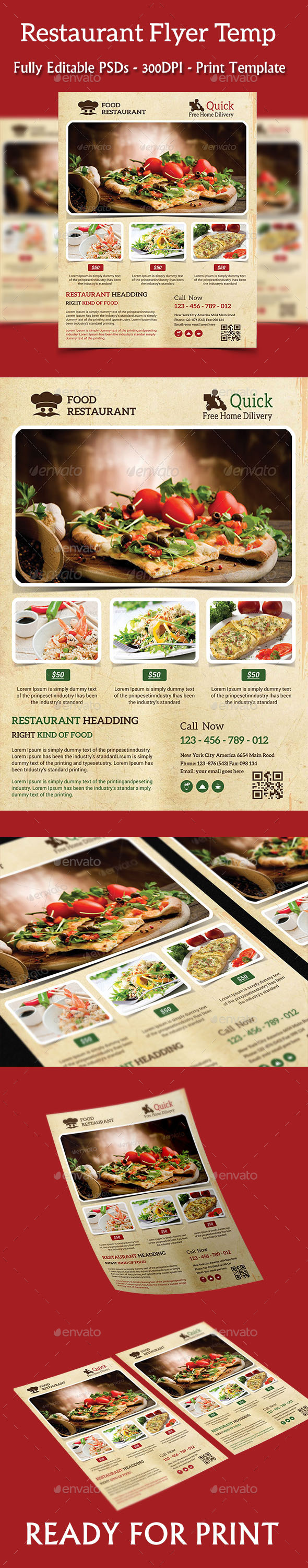 GraphicRiver Restaurant Flyer 10357004