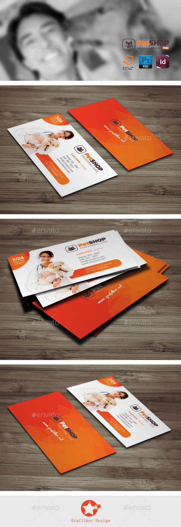 GraphicRiver Pet Shop Business Card Templates 10357156