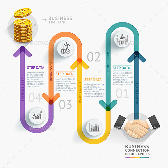 GraphicRiver Business Timeline Infographics 10357190